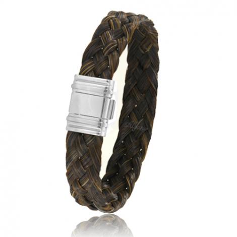 Bracelet en Crin de cheval et acier g Koralie -696CHMAC