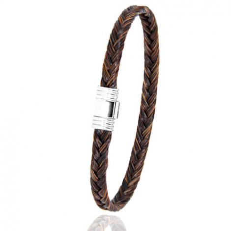 Bracelet en Crin de cheval et acier g Lauriane -608CHMAC