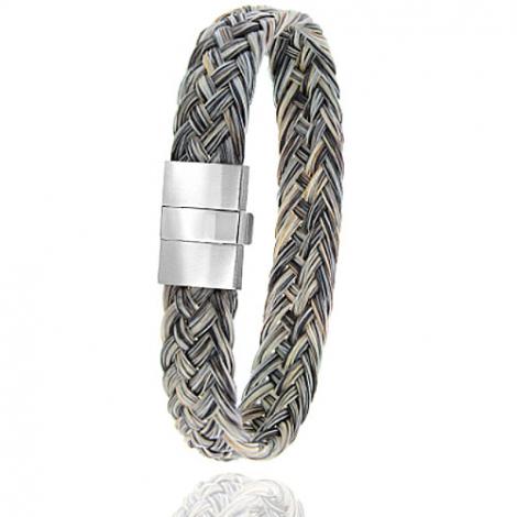 Bracelet en Crin de cheval et acier g Maelle -604CHGC