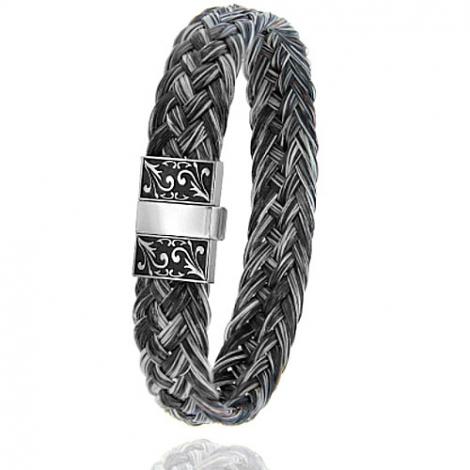Bracelet en Crin de cheval et acier g Maelle -604CHGFGR