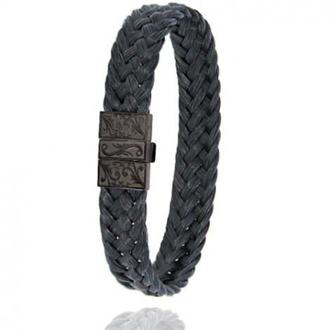 Bracelet en Crin de cheval et acier g Maryse -604NCHNGR