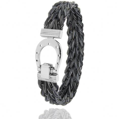 Bracelet en Crin de cheval et acier g Minea -900CHGFAC