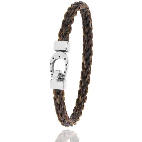 Bracelet en Crin de cheval et acier g Naïla -900PCHMAC