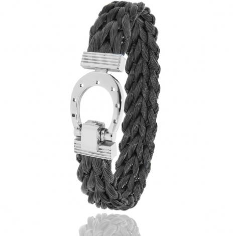 Bracelet en Crin de cheval et acier g Nastasia -900CHNAC