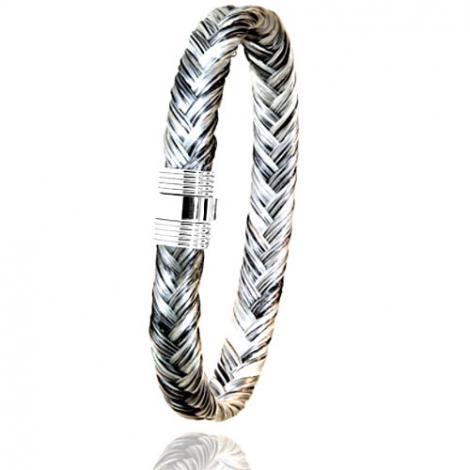 Bracelet en Crin de cheval et acier g Ocella -606CHGCAC