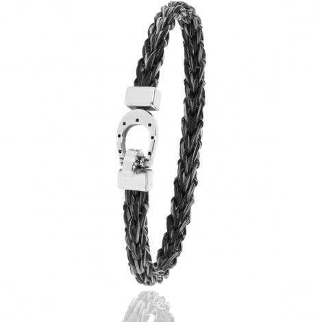 Bracelet en Crin de cheval et acier g Vaema -900PCHGFAC