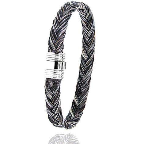 Bracelet en Crin de cheval et acier g Ysaline -606CHGFAC