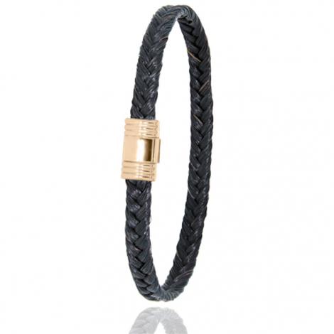 Bracelet en Crin de cheval et or  5g Ilaria -608CHNORjaune