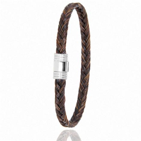 Bracelet en Crin de cheval et or  5g Stefania -608CHMORblanc