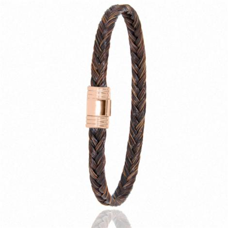 Bracelet en Crin de cheval et or  5g Violette -608CHMORrose