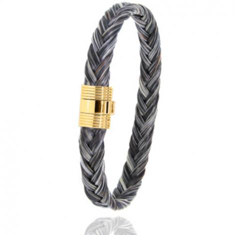 Bracelet en Crin de cheval et or  8g Agathe -606CHGFORjaune