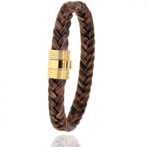 Bracelet en Crin de cheval et or  8g Angélina -606CHMORjaune