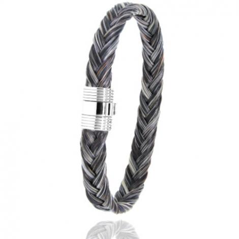 Bracelet en Crin de cheval et or  8g Clara -606CHGFORblanc