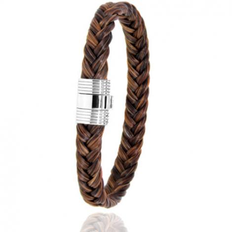 Bracelet en Crin de cheval et or  8g Lina -606CHMORblanc