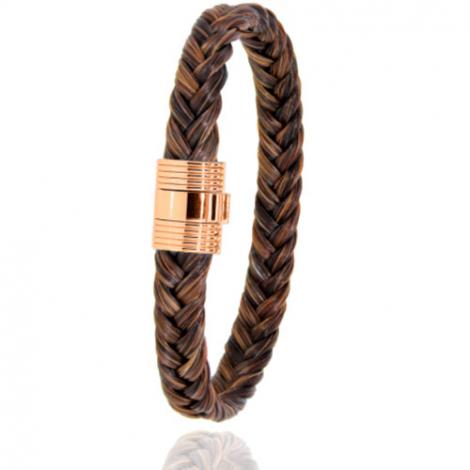 Bracelet en Crin de cheval et or  8g Malika -606CHMORrose