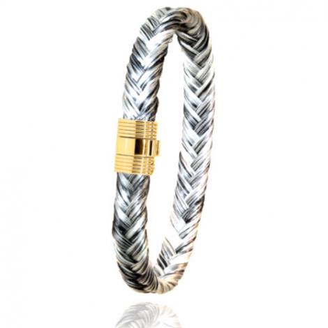 Bracelet en Crin de cheval et or  8g Mary -606CHGCORjaune