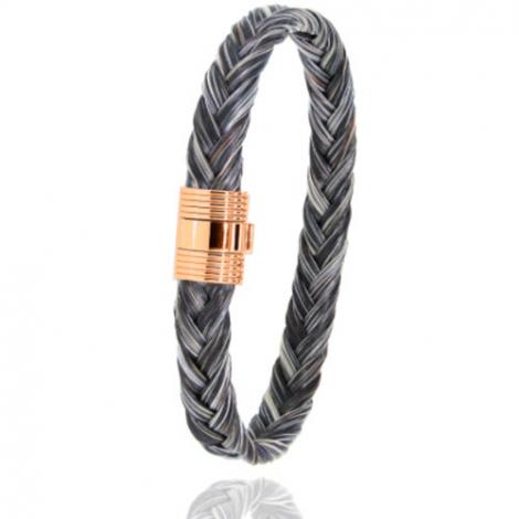 Bracelet en Crin de cheval et or  8g Princesse -606CHGFORrose