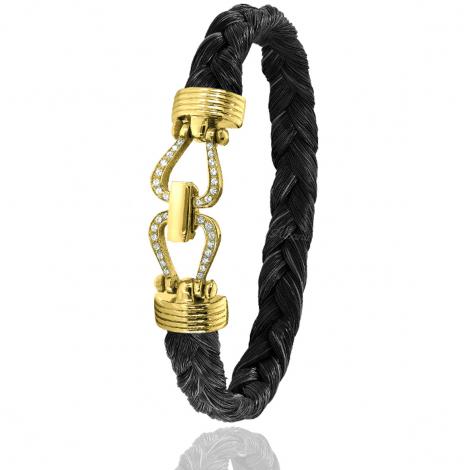 Bracelet en Crin de cheval or et diamant 11g Georgia -730DCHMACORjaune