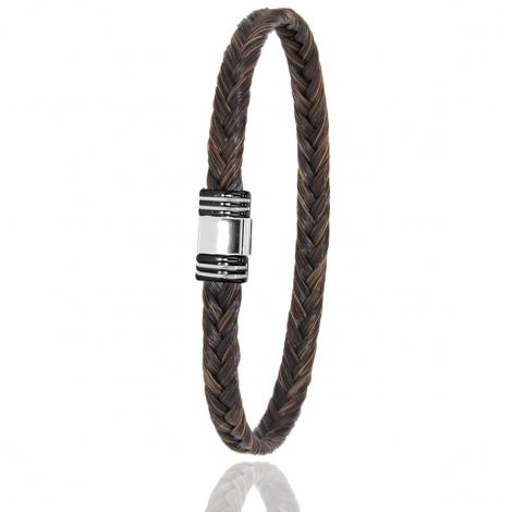Bracelet en Crin de cheval PVD et or 0.42g Alessia -613NCHMORblanc