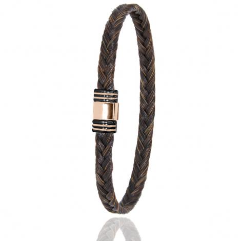 Bracelet en Crin de cheval PVD et or 0.42g Solèna -613NCHMORrose