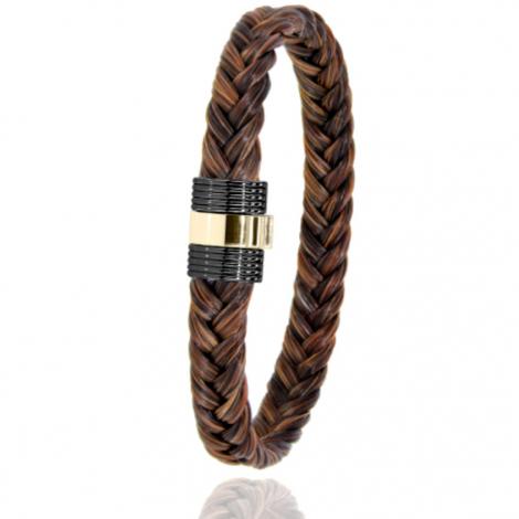 Bracelet en Crin de cheval PVD et or 0.45g Aiata -607NCHMORjaune