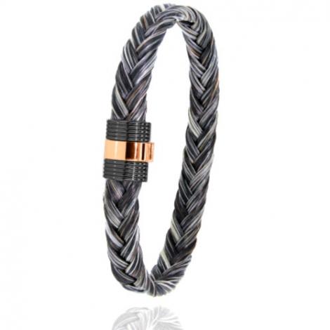 Bracelet en Crin de cheval PVD et or 0.45g Alexia -607NCHGFORrose