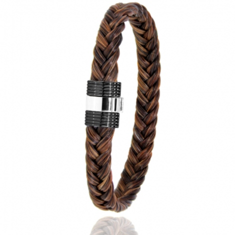 Bracelet en Crin de cheval PVD et or 0.45g Judith -607NCHMORblanc