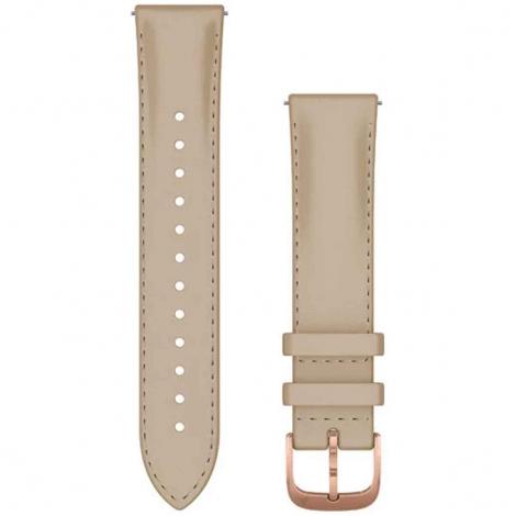 Bracelet en cuir Beige Sable - 20mm - Garmin - 010-12924-21