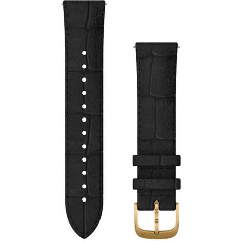 Bracelet en cuir gaufré noir - 20mm - Garmin - 010-12924-22