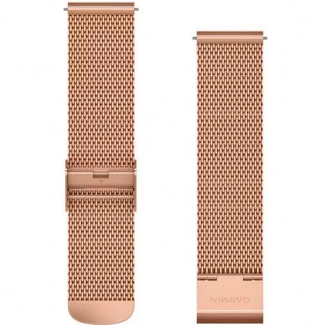 Bracelet en Mailles Milanaises Rose- 20mm - Garmin - 010-12924-24