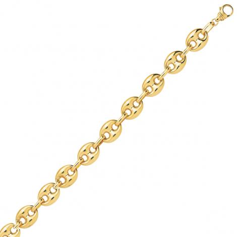 Bracelet en or 9 carats Grain de Café 6 mm - 5.95g Ashley
