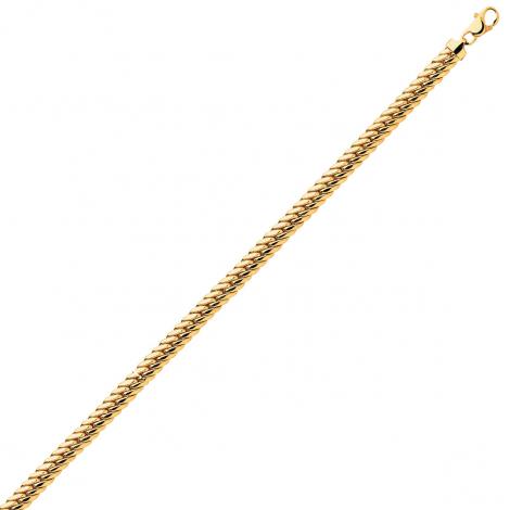 Bracelet en or 9 carats maille anglaise 3mm - 2.45g Luna