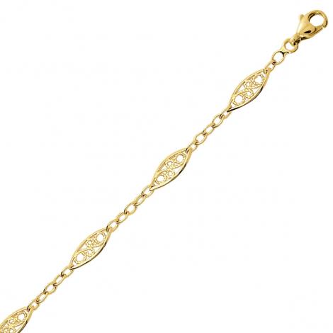 Bracelet en or 9 carats maille Filigranes 4mm - 2.1g Monica