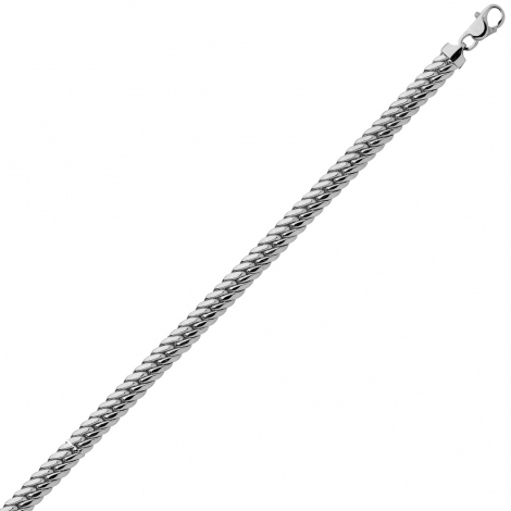 Bracelet en or blanc maille Anglaise 3.5 mm - 4.7g Mylie