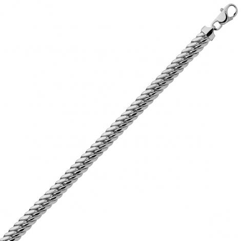 Bracelet en or blanc maille anglaise 4,5mm - 6.65g Olivia