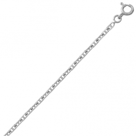 Bracelet en or blanc maille marine 1.5mm - 0.9g Maya