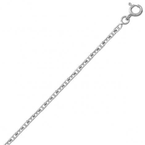 Bracelet en or blanc maille marine 1.5mm - 1.25g Maya