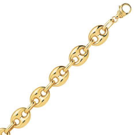 Bracelet en or Grain de Café 10 mm - 13.25g Erica