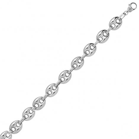 Bracelet en or Grain de Café 5 mm or blanc - 6.38g Valentina