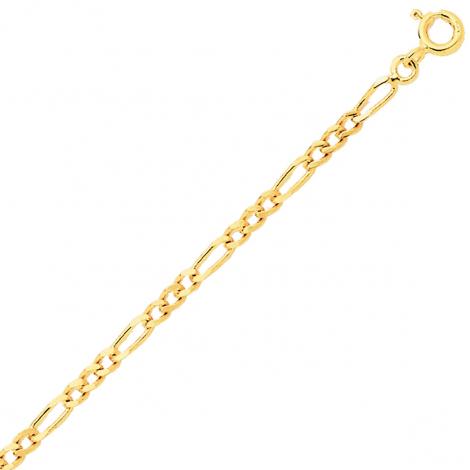 Bracelet en or jaune maille Alternée 1.4mm - 0.8g Théa