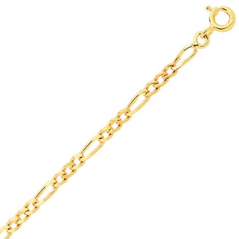 Bracelet en or jaune maille Alternée 1.7mm - 1.2g Naïla