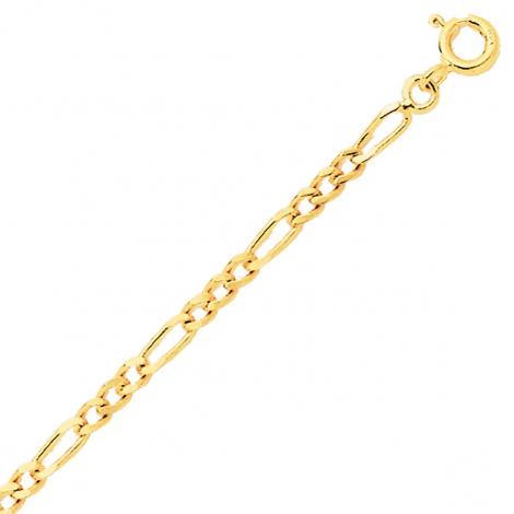 Bracelet en or jaune maille Alternée 2mm - 1.6g Liana