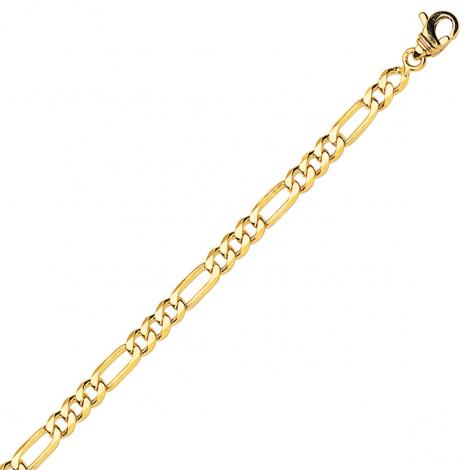 Bracelet en or jaune maille Alternée ultra-plate 4mm - 5.4g Leïla