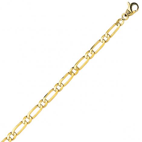 Bracelet en or jaune maille Alternée ultra-plate 4mm - 5g Naomie