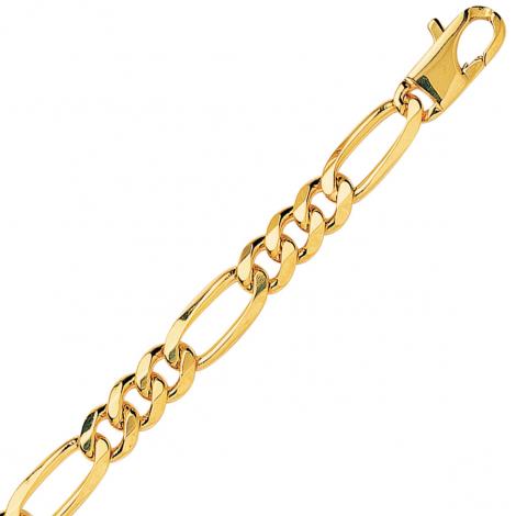 Bracelet en or jaune maille Alternée ultra-plate 8mm - 20.25g Océana