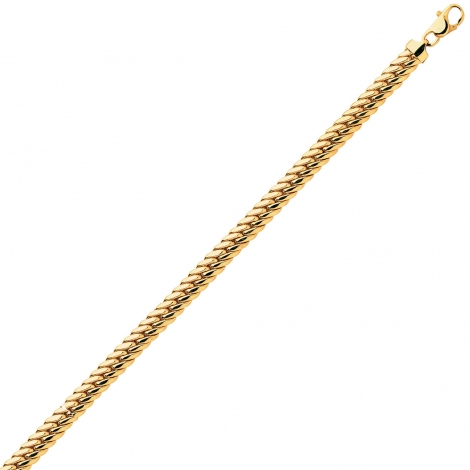 Bracelet en or maille Anglaise 3.5 mm - 4.65g Aurora