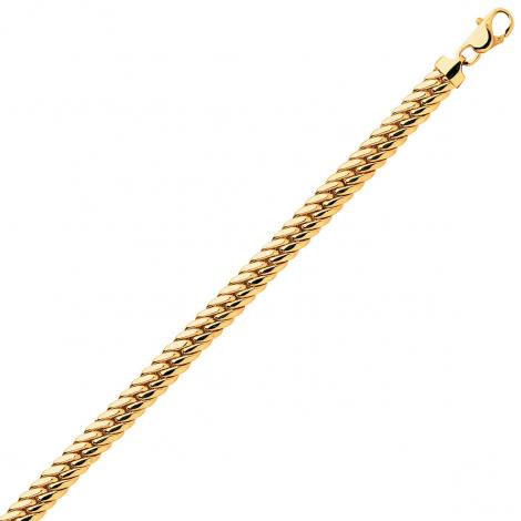 Bracelet en or maille anglaise 4,5mm - 6.55g Barbara