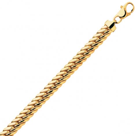 Bracelet en or maille anglaise 6,5mm - 12.1g Léanne
