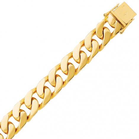 Bracelet en or maille Gourmette 10mm - 74g Selena