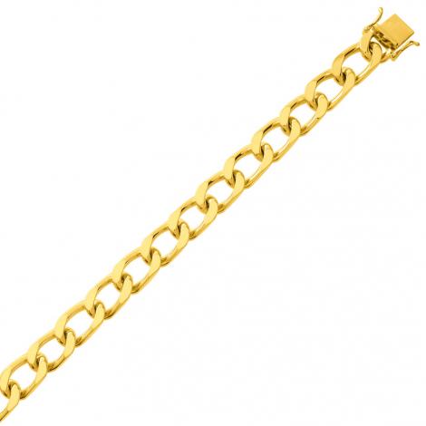 Bracelet en or maille Gourmette 6mm - 21.25g Solène
